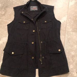 Black utility vest by Ambition - new without tags